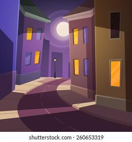 Night city street.
