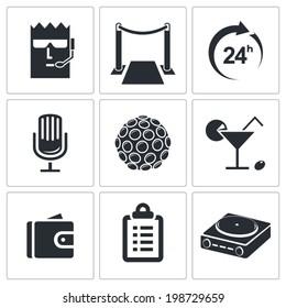Night Club Icons set