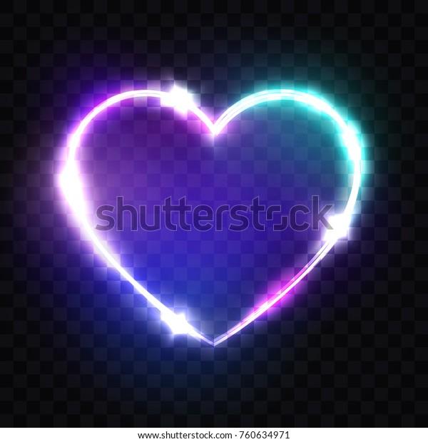 Vector De Stock Libre De Regalías Sobre Signo Neon Heart