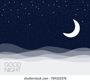 Night concept background. Good night. Vector illustration EPS 10