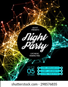 Night Disco Party template