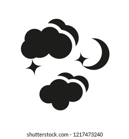 Night icon. Trendy Night logo concept on white background from Weather collection. Suitable for use on web apps, mobile apps and print media.