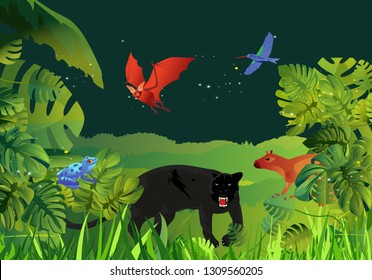 Panther In Tree Stock Illustrations Images Vectors Shutterstock