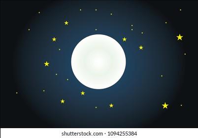 night and moon. night and stars. night sky and moon