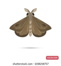 Night moth color flat icon
