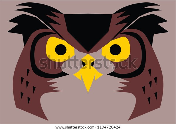 Night Owl Vector Stock Vector (Royalty Free) 1194720424