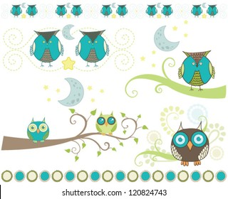 Night owls on branches