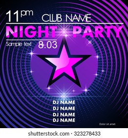 Night party design template