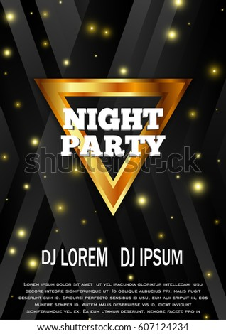 Night Party Flyer Template Club Vector Stock Vector Royalty Free