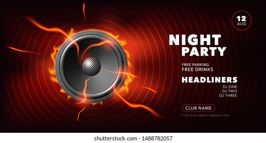 night party vector poster illustration 260nw 1488782057