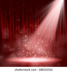 Night red performance. Vector illustration. EPS 10