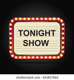 Night show , Vector Retro Banner