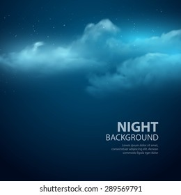Night sky abstract background. Vector illustration EPS 10