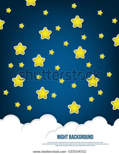 Night sky background with stars. Vector illustration.