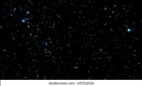 Night sky with bright stars. Vector