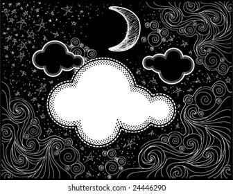 Night Sky Doodles - Vector