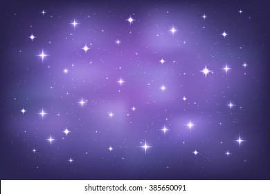 Purple stars background stock images royalty free images vectors night sky with glittering stars background vector horizontal template thecheapjerseys Gallery
