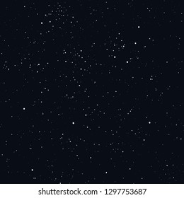 Night sky starry seamless pattern black