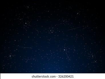 Night star sky vector.