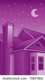Night Time Roof illustrations