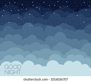 Night time sky background. Good night. Conceptual idea. Vector illustration EPS 8