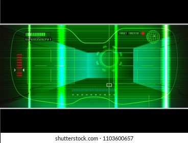 Night Vision Scope, vector illustration