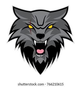 Night Wolf Vector Logo
