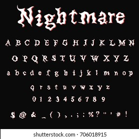 Nightmare - Font - Stylized  decorative font for design