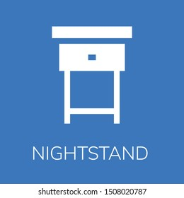 Nightstand icon. Editable  Nightstand icon for web or mobile.