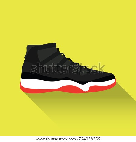 sneakers for cheap 9f3e1 7a136 Nike Air Jordan 11. Vector drawn sport shoes, sneakers for summer. Vector  stock