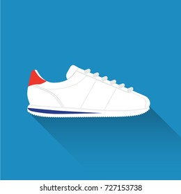 Nike Cortez without logo. Sport wear for men and women. Flat design. Vector