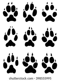 Fox Paw Print Images Stock Photos Vectors Shutterstock Free icons of wolf paw print in various design styles for web, mobile, and graphic design projects. https www shutterstock com image vector nine black print paws fox vector 398555995