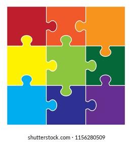 Nine Part Square Puzzle