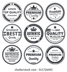 Nine Scalable Vintage Business Badges