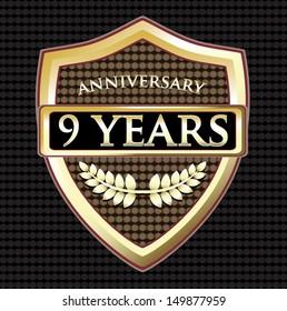 Nine Years Anniversary Shield