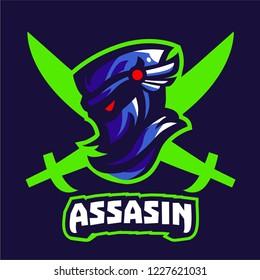 Ninja assasin mascot logo template