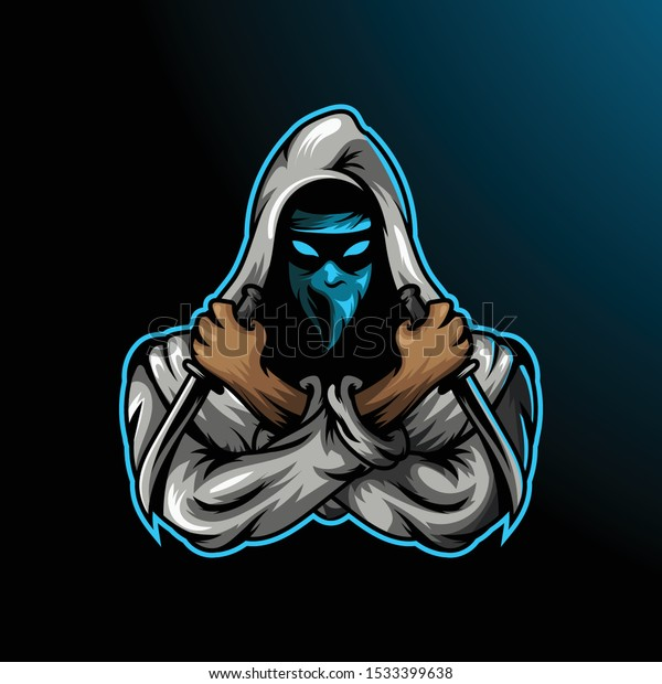 Ninja Assassin Mascot Sport Esport Gamer Stock Vector Royalty Free 1533399638