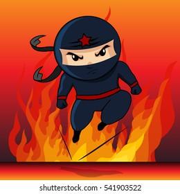 Ninja Assassins cartoon vector 10