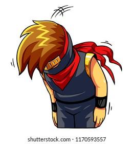 Ninja Boy Apologize And Sorry.