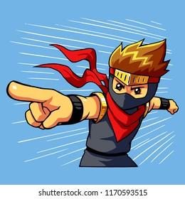 Ninja Boy Attack Command.