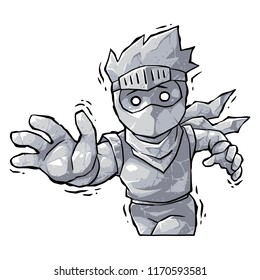 Ninja Boy Petrified Curse.