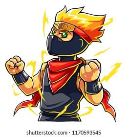 Ninja Boy Super Power Up.
