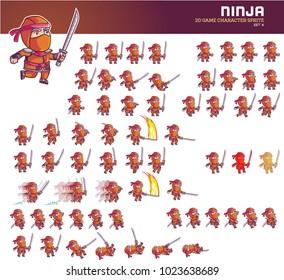 Ninja Cartoon Game Character Animation Sprite
