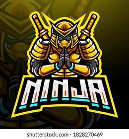 Ninja esport logo mascot design
