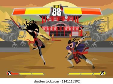 ninja fighting videogame