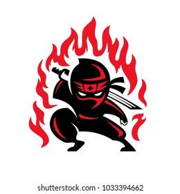 Ninja fire illustration