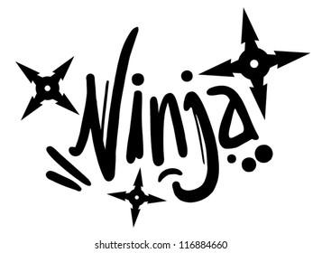 Ninja graffiti art