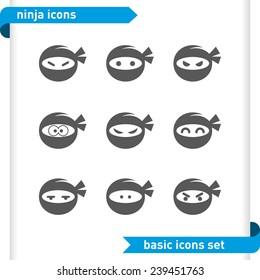Ninja icons set.