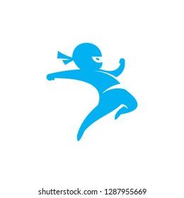 Ninja Kids Character Logo