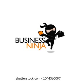 Ninja logo, ninja business, ninja with a briefcase
